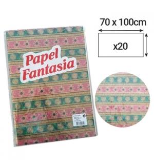 Papel Embrulho Fantasia Luxos 70x100cm 20 Folhas