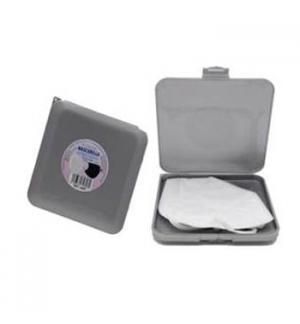 Porta Máscaras Quadrado Prata 13x13x1.5cm 1un