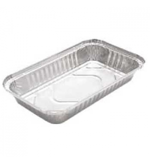 Embalagem Alimentar 600ml Alumínio Retangular c/Tampa 25un