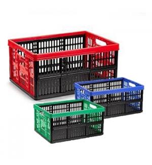 Caixa Dobrável Arrumação Plástica 48x35x4cm 32L Sortido