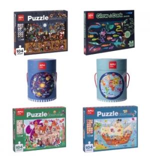 Kit Jogos Educativos Puzzles Apli 6un Sortido