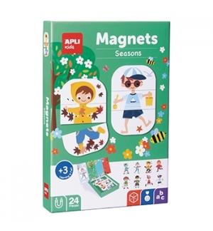 Jogo Educativo Magnético Apli Estações 24 Peças