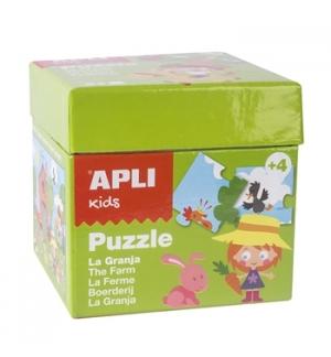 Jogo Puzzle Apli Kids Tema A Fazenda 24 Peças