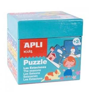 Jogo Puzzle Apli Kids Tema 4 Estações 24 Peças