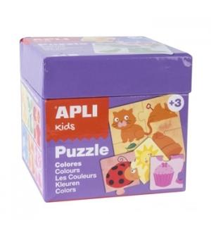 Jogo Puzzle Apli Kids Tema 6 Cores 24 Peças