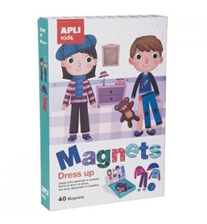 Jogo Educativo Magnético Apli Vestuário 40 Peças