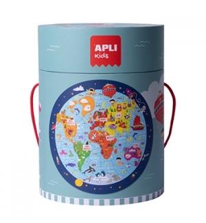 Jogo Educativo Puzzle Apli Mapa Mundo 48 Peças