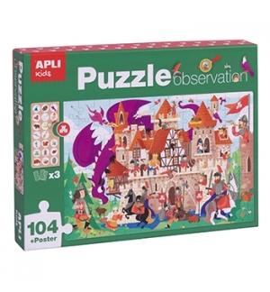 Jogo Educativo Puzzle Apli Observação do Castelo 104 Peças