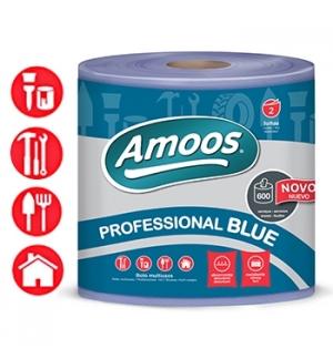 Rolo Toalhas Mão Azul 133mtsx23,4cm 2Fls Picotado 1 Rolo