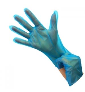Luvas Polymer s/ Pó Azul Tamanho L Pack 200un