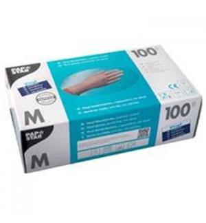 Luvas Vinil s/ Pó Tamanho M Transparente Pack 100un