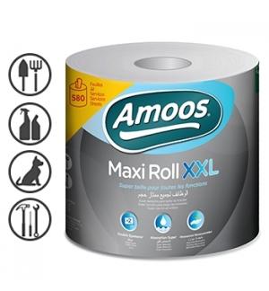 Rolo Toalhas Mão 133mtsx23,4cm 2Fls Amoos 1 Rolo