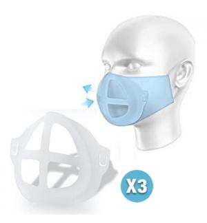 Suporte Máscara Respirador Silicone 3un