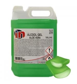 Gel Higienizante Desinfetante Anti-séptico Mãos Alóe Vera 5L