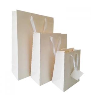 Saco Papel Branco 32x26x11cm c/Asa 1un