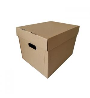 Caixa 420x330x300 C/Tampa para Pastas de Arquivo Pack 10un