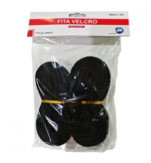 Fitas Velcro Cor Preto 20mmx3m