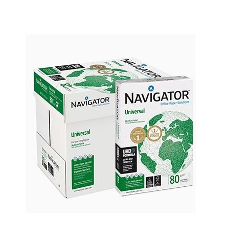 Papel Fotocopia A4 080gr Navigator (Universal) 5x500 Folhas