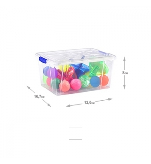 Caixa Plástico 12,6x16,7x8cm 1 Litro