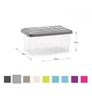 Caixa Plástico 29x19x14cm Cores Sortidas 5L