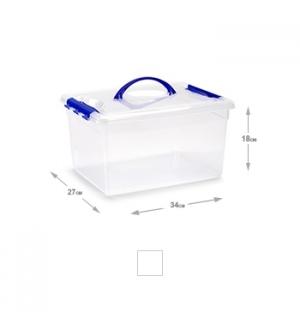 Caixa Plástico 34x27x18cm 12 Litros