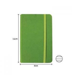 Bloco Notas Pautado 14x9cm Semi Pele Verde 116 Flh agenda
