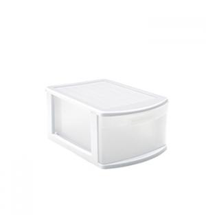 Bloco 1 Gaveta Plástico Tamesis 39x28,5x20,5cm Branco