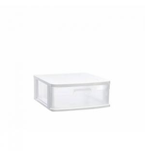 Bloco 1 Gaveta Plástico Sena 40x39x17cm Branco