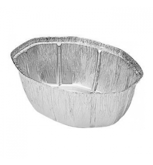 Embalagem Alimentar 2400ml  Alumínio Oval  c/Tampa 50un