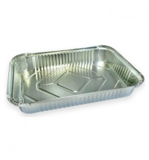 Embalagem Alimentar Alumínio Retangular 2380ml 50un