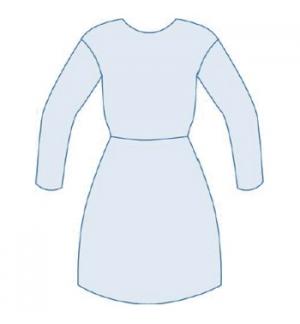 Bata Descartável Impermeável Azul (Marcação CE) 16gr 1un