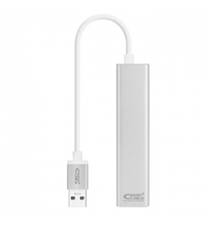 Adaptador USB-A 3.0 / Ethernet Gigabit + 3x USB 15cm