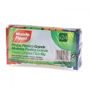 Molas Roupa Plástico Cores Sortidas 24un