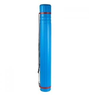Porta Desenhos Tubo Plastico 40cm Diametro 05cm Azul