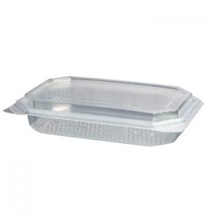 Embalagem Alimentar PP Plástico Quadrada 550ml 120un