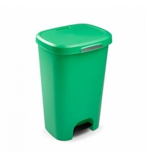 Contentor Plastico c/Pedal 50 Litros Verde un