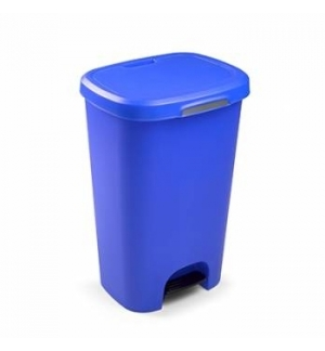Contentor Plastico c/Pedal 50 Litros Azul un