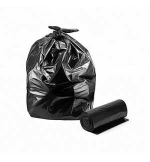 Sacos Lixo Plast 120Lts Preto Carga42k 85x105cm-Rolo20u