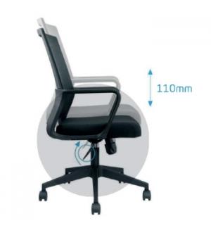 Cadeira Operativa Giratória com Braços Spin Cor Preto