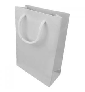 Saco Papel Branco18x08x25cm c/Asa Cordão 1un