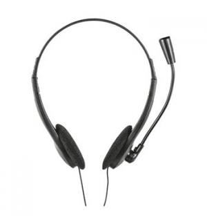 Headset Call Centers PC e NB Trust Ziva com Microfone Preto