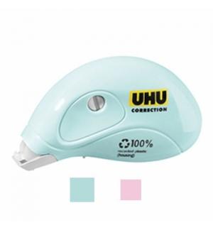 Corretor Fita Mini Roller UHU 5mmx6m Sortido Pastel 1un
