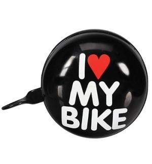 Campainha para Bicicleta 8cm - I LOVE MY BIKE - Preto