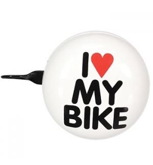 Campainha para Bicicleta Ø8cm - I LOVE MY BIKE - Branco