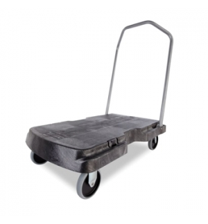 Plataforma Movel Triple Trolley 83x52cm capacid 181Kg Preto