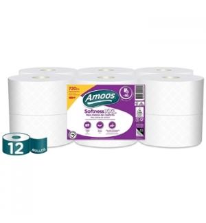 Papel Higiénico Doméstico 60mts 3Fls Softness XXL 12 Rolos