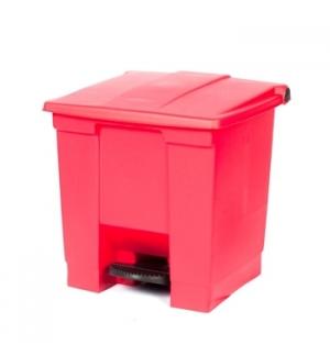 Contentor c/Pedal 30 Litros Vermelho