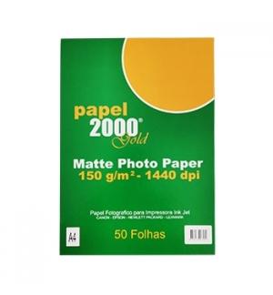 Papel InkJet 2000 A4 150gr Foto Matte - 50 Folhas