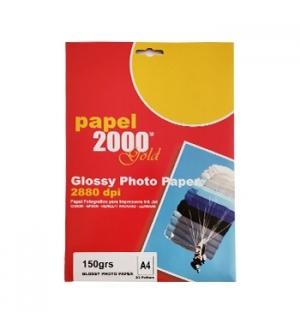 Papel 150gr InkJet A4  Foto Glossy - 20 Folhas