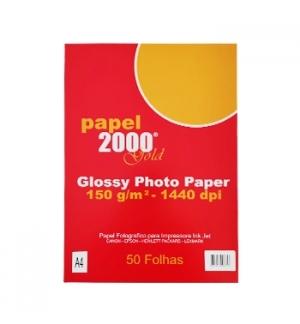 Papel 150gr InkJet A4  Foto Glossy - 50 Folhas